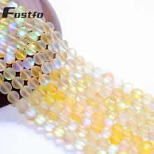 Натуральный Матовый камень желтый австрийский круглые хрустальные