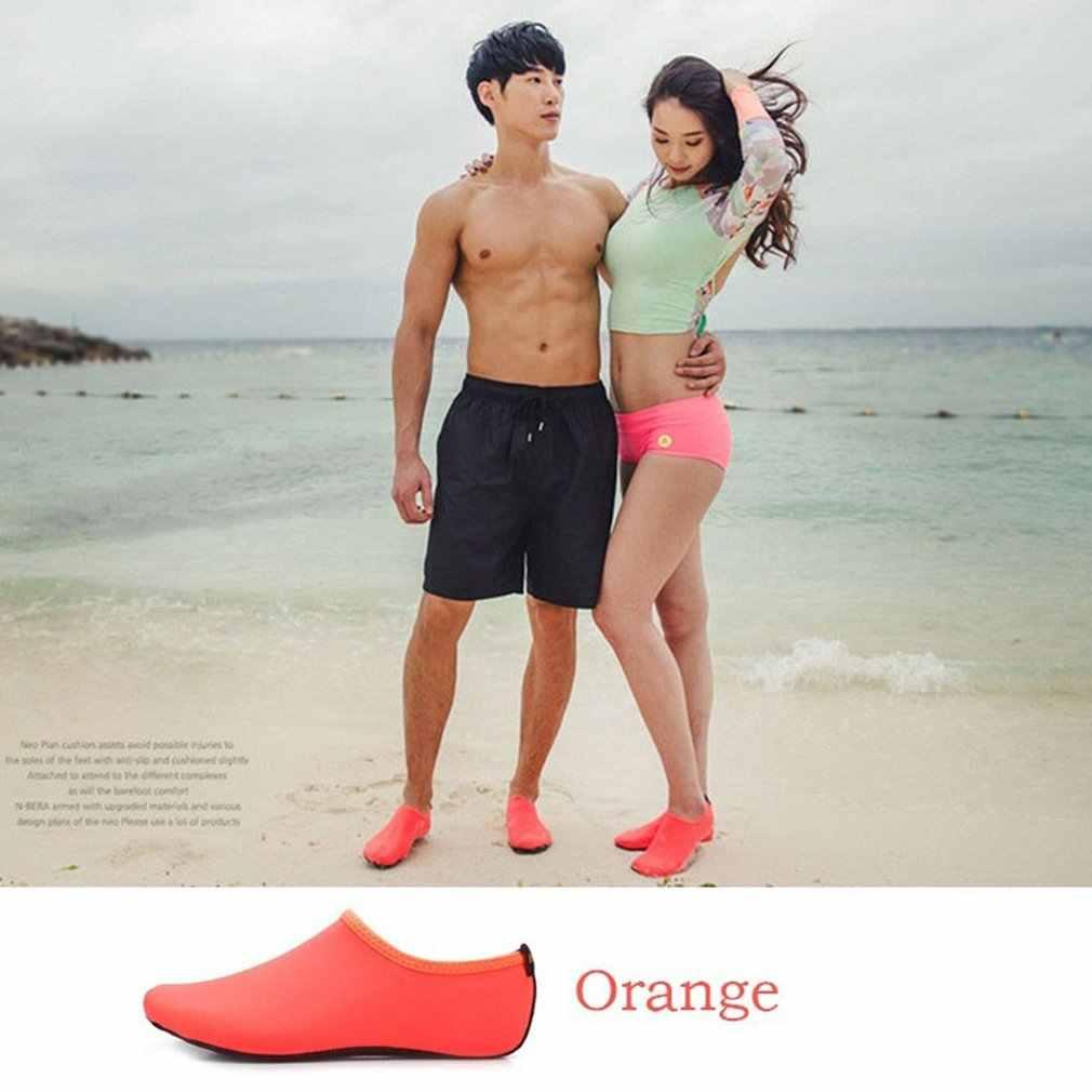Effen Kleur Mannen Vrouwen Sneldrogend Water Schoenen Aqua Sokken Oefening Zwembad Strand Dans Zwemmen Duiken Slip Sokken
