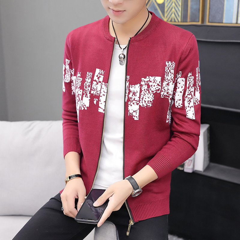 Mens Sweater Autumn Knitted Sweaters Men's Cardigan Jackets Coats Male Clothing Casual Knitwear