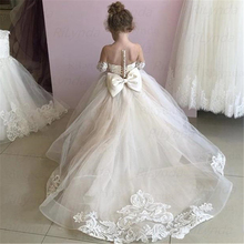 Dress Wedding-Party-Costume Flower-Girls Carnival-Gown Kids New for Champagne 2-To-14-Years