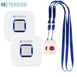 Retekess Caregiver Pager Wireless SOS Call Button Nurse Calling Alert Patient Help System for Home Elderly Patient