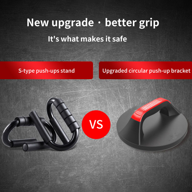 Push Up Bars Non Slip Pushups Design Wide Handle Comfortable Grip Rustproof Workout Equipment Rotating Circular Push-Up Bracket 5