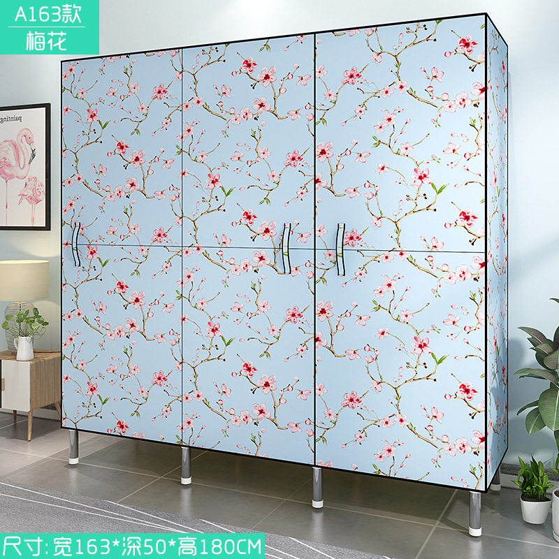 JD Door Cloth Wardrobe Simplicity Cloth Wardrobe Folding Wardrobe Rough Reinforced Steel Tube Modern Economic Storage Cabinets