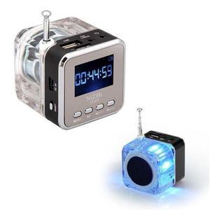 Image 2 - TT 028 многоцветный громкоговоритель со светодиодным дисплеем, портативный мини Стереодинамик USB FM SD для IPHONE/IPAD/IPOD/MP3/ПК