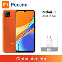 Versão global xiaomi redmi 9c 3gb 64gb 9 c smartphone 13mp mtk helio g35 octa núcleo 5000mah 6.53