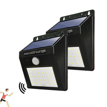 Outdoor Solar Powered Wall Lamps LED Porch Lights 30 LEDs PIR Motion Sensor IP65 Path Way Garden Auto ON/OFF Security Lamp