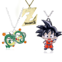 Japanese anime Dragon Ball Z necklace shenron Realize your wishes series super dragonball 4 stars Goku Dragonball Necklace