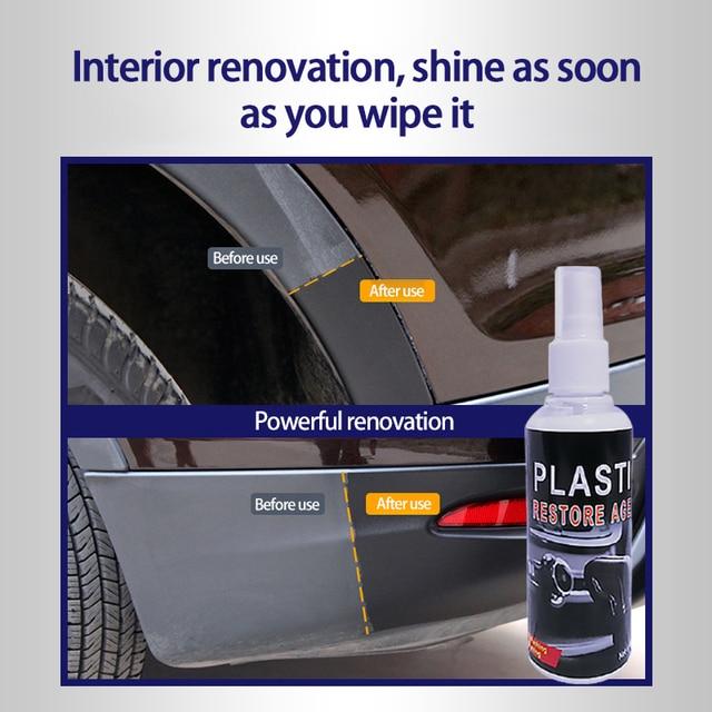 Retreading Agent Plastic Parts Wax Instrument Panel Retreading Agent Upholstery Cleaner Automotive Interior Plastic Parts 1