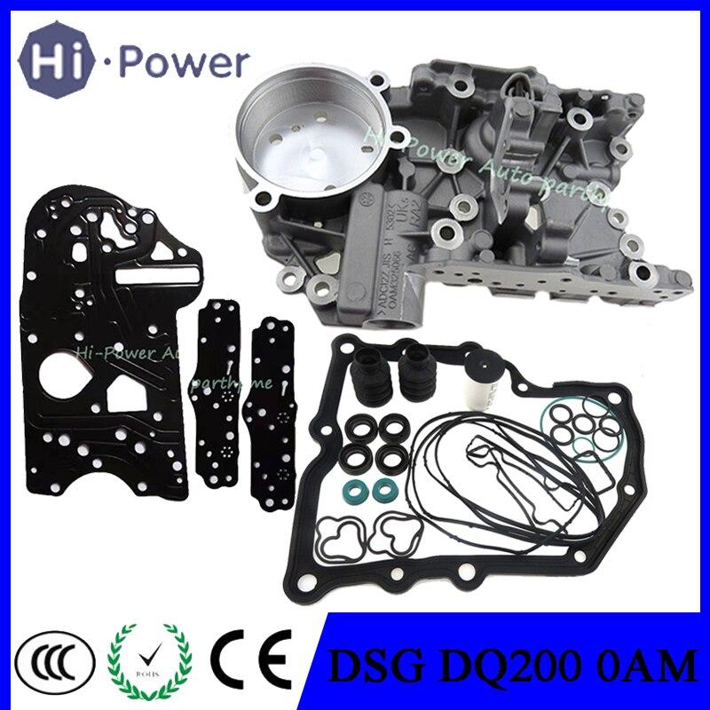DQ200 0AM DSG obudowy skrzyni biegów 4.6MM 0AM325066C urzędowo ustanowiony system dla AUDI VW siedzenie do skody Passat Golf 7-prędkość DQ200 0AM325066AC 0AM325066AE