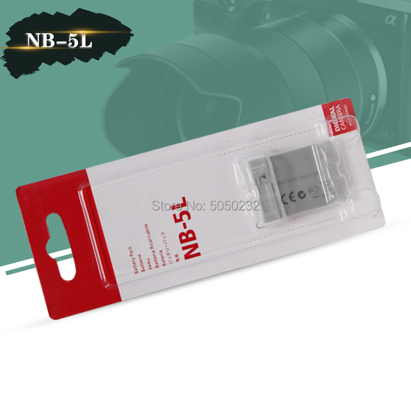 3.7v 1120mah NB-5L NB 5L For <font><b>Canon</b></font> SX200is SX210IS SX220HS <font><b>SX230HS</b></font> for PowerShot S100 S110 SD950 SD970 SD990 image