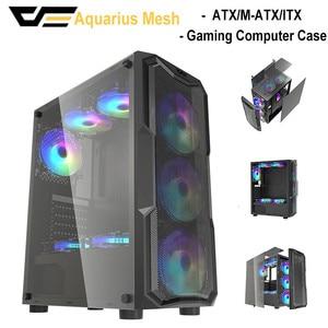 Darkflash gamer gamer desktop computador computador atx/M-ATX/itx completa torre casos usb3.0 diy aigo chassis gabinete de armazenamento vidro temperado