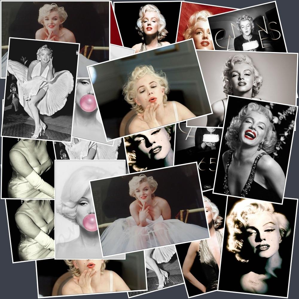 25Pcs Singer and Actress Marilyn Monroe Stickers Popular Car  Laptop Suitcase Car Motor Guitar Skateboard