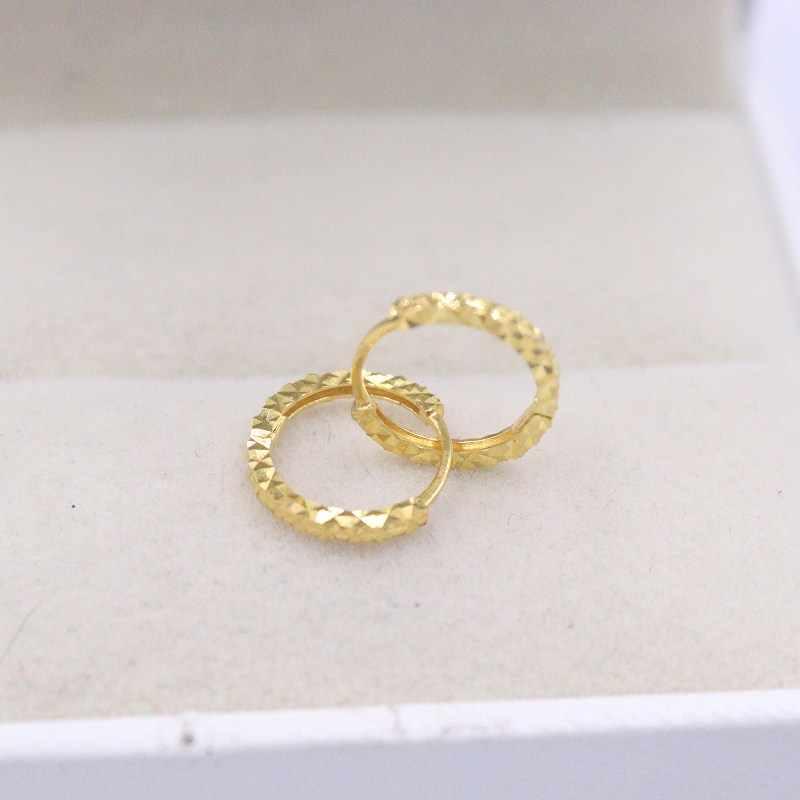 Pure Au750 18K White Gold  Earrings Woman/'s Heart Unique Hoop Earrings