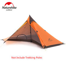 Naturehike Silicone Single Tower Canopy Tent Ultralight Single Persons Rainproof Outdoor Camping Tent Not Include Trekking Poles(China)