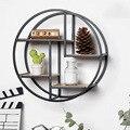 Настенная железная полка  круглая плавающая полка  настенный держатель для хранения и полка для кладовой  гостиной  спальни  кухни