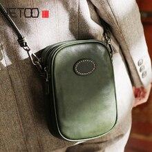 купить AETOO Retro casual slant with small bag, soft leather simple small square bag, hundred tofu bag дешево