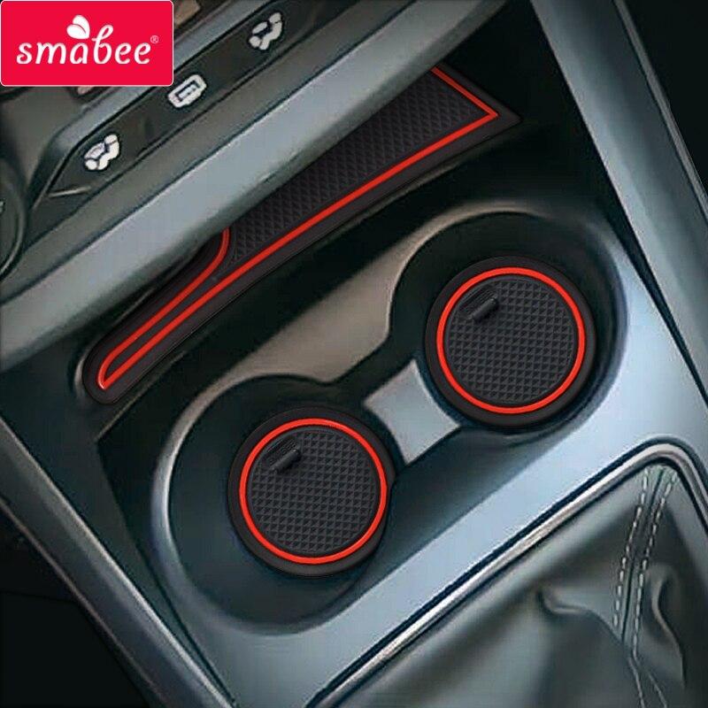 Gate slot Cup Mat for Lada Vesta 2020 SW CROSS CVT Door Groove Non-slip Pad 6pcs set Accessories Cup Holders Rubber Mat