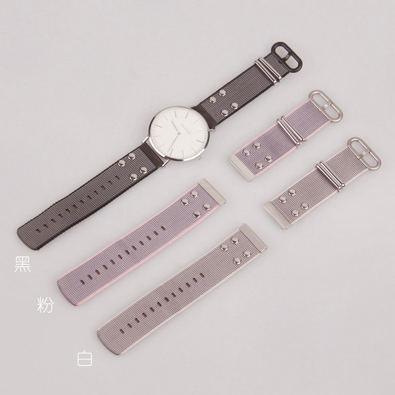 Applicable Huawei WATCH2 Pro Metal-Style Watch Strap SAMSUNG S2 Watch Strap TICWATCH2 Nylon Watchband