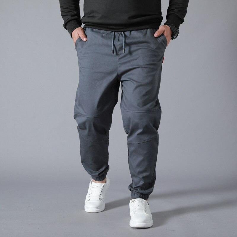 Super Loose Men Casual Pants Wear-resistant Work Overalls Cargo Pants Trousers Plus Size Elastic Waist Baggy Jogger Sweatpants