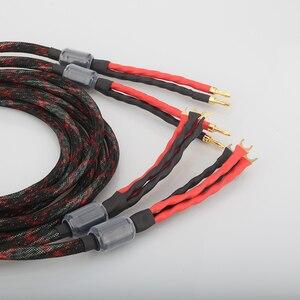 Image 5 - Audiocrast HI End Western ไฟฟ้าสายลำโพง HIFI สายกล้วย Spade Biwire สายลำโพง HIFI