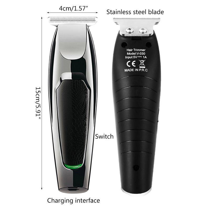 Electric Hair Clipper 0 Cutter Head USB Rechargeable Trimmer with Limit Combs K1AD