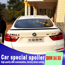 2014 2015 2016 high quality ABS material for BMW X4 X6  spoiler X4 X6 primer paint or any color spoilers rear trunk wing spoiler montford car styling abs plastic unpainted primer color rear trunk boot wing roof spoiler for bmw f26 x4 spoiler 2015 2016 2017