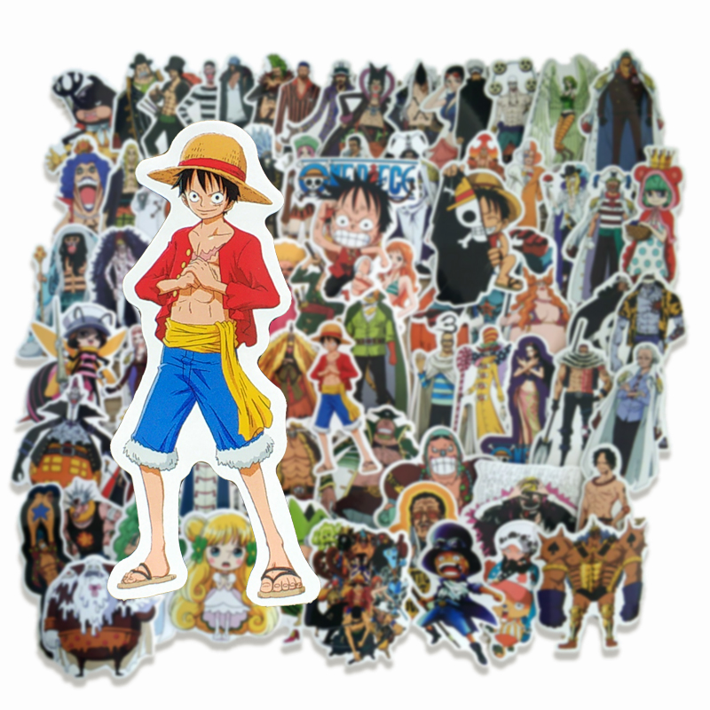 70Pcs ONE PIECE Stickers Anime Luffy  For Car Laptop Home Decal Suitcase PS4 Suitcase Waterproof Decal Sticker Pack