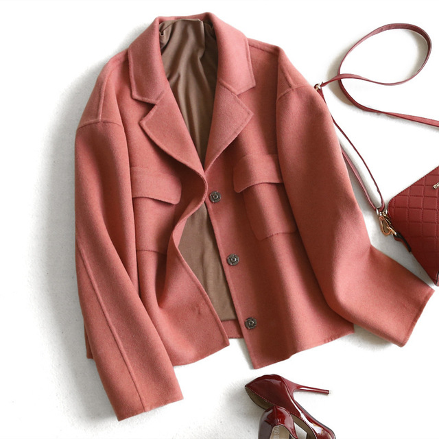 Women's Short Spring Jacket 2020 Casual Wool Coat Female Autumn Winter Jackets Women Cashmere Coats abrigo mujer 1621 s s