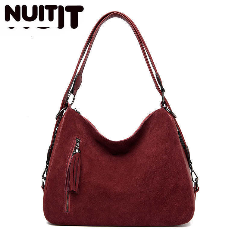 Luxury Handbags Women Tote Bags Designer Famous Brand Faux Suede Shoulder Crossbody Bags Ladies Casual Big Hobos Bags FemaleShoulder Bags   -