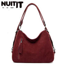 Luxury Handbags Women Tote Bags Designer Famous Brand Faux Suede Shoulder Crossbody Bags Ladies Casual Big Hobos Bags Female