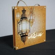 Liviorap Eid Mubarak Decors Led 회화 Al Fitr 홈 장식 이슬람 무슬림 무바라크 라마단 장식 홈 해피 이드