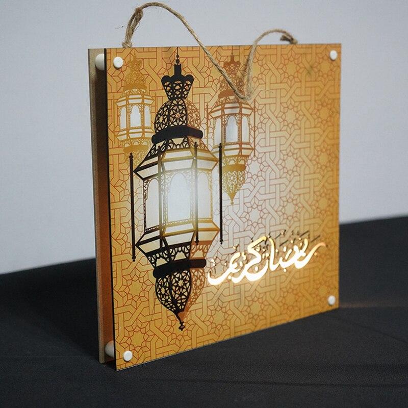 Liviorap Eid Mubarak Decors Led Painting Al-Fitr Home Decor Islamic Muslim Mubarak Ramadan Decoration For Home Happy Eid