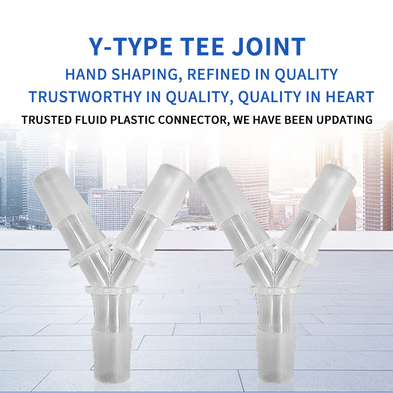 New 1PC PE Food Grade Y-Type Tee Hose Connector Equal Diameter Gladhand For 3-17MM Hose Silicone Tube