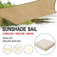3x3/2.6M 300D Canvas Waterproof Tent Canopy Sun Shelter Cloth Outdoor Roof Cover Tent Top Patio Awning Garden Supplies Tool