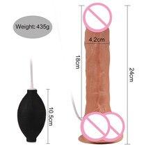 Water Spray Dildo Ejaculation Realistic Big Dildo Sucker Artificial Soft Silicone Penis Erotic Toys For Female Mastrubator