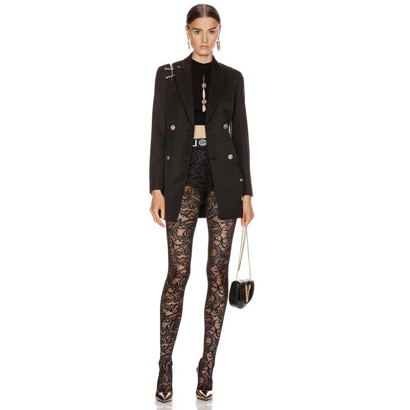 Nouvelle mode célébrité veste Sexy col en V profond noir robe courte femmes fête Cocktail charmant Vestidos robes dautomne en gros