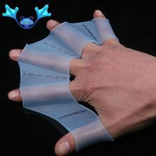 Плавание палец перепонка перчатки силикон ласты ласты весло лягушка рука аксессуар