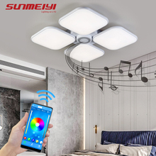 купить Modern LED Ceiling Lights RGB+APP Bluetooth Music Light For Bedroom Living room Kitchen Bar Indoor Lighting with Remote control по цене 9208.25 рублей