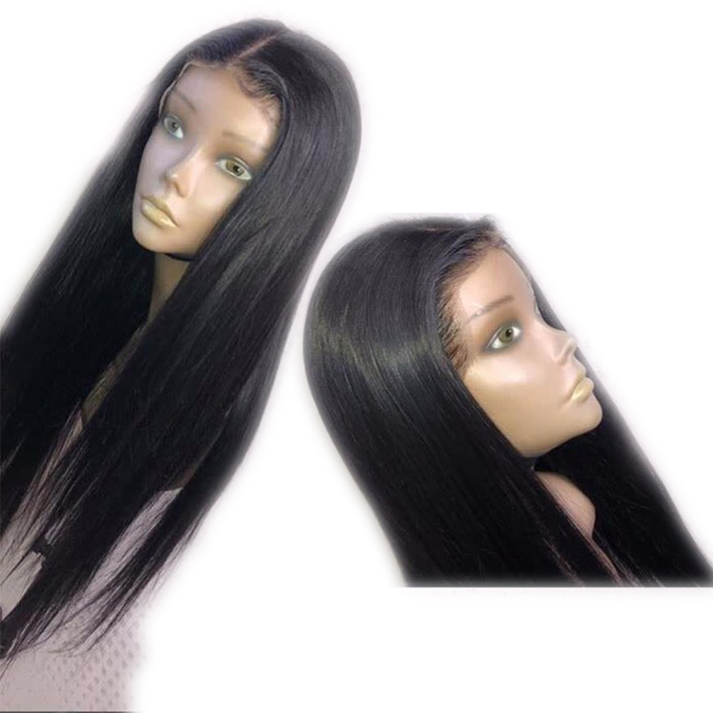 Fantasy Beauty Deep Part Long Straight Hair 13x6 Lace Front Wig Natural Hairline Heat Resistant Synthetic Wigs With Baby Hair