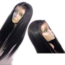 Purple Blonde Brown Deep Part Long Straight Hair13x6 Lace Front Wig