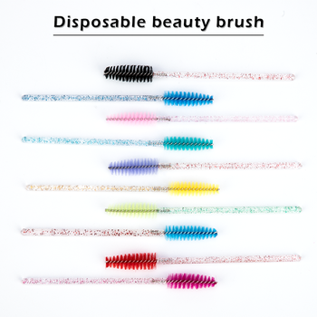 Zwellbe Disposable Crystal Eyelash Brush Comb 500Pcs/Pack Eye Lashes Extension Mascara Wands Makeup Professional Beauty Tool 2