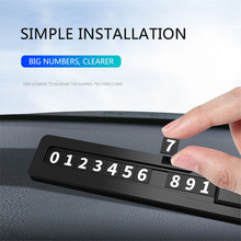 Najwyższa jakość samochodów tymczasowy telefon z kartą parkingową numer telefonu karty dla Dodge kaliber podróż Caravan RAM 1500 ładowarka Challenger