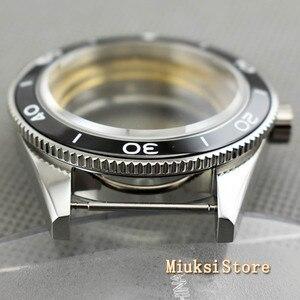 Image 3 - Corgeut 41mm top watch case sapphire glass ceramic bezel  fit Miyota 8205/8215 82 Series ETA 2836 DG2813