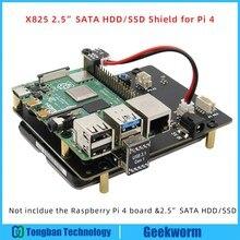 פטל Pi 4 דגם B 2.5 אינץ SATA HDD/SSD אחסון הרחבת לוח, x825 USB3.1 קשיח נייד דיסק מודול לפטל Pi 4B