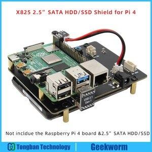 Image 1 - פטל Pi 4 דגם B 2.5 אינץ SATA HDD/SSD אחסון הרחבת לוח, x825 USB3.1 קשיח נייד דיסק מודול לפטל Pi 4B
