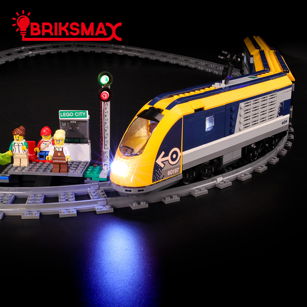 BriksMax Led Light Up Kit For City Series Passenger Train Building Blocks Compatible With <font><b>60197</b></font> (NOT Include Model) image