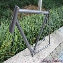 Пескоструйная титановая рама для шоссейного велосипеда с муфтой и продольной осью