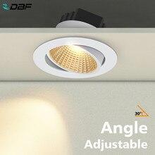 [DBF] siyah/beyaz yuvarlak gömme LED dim Downlight COB 6W 9W 12W 15W LED Spot işık LED dekorasyon tavan lambası AC 110V/220V