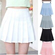 Girls A Lattice Short Dress High Waist Pleated Tennis Skirt Uniform with Inner S