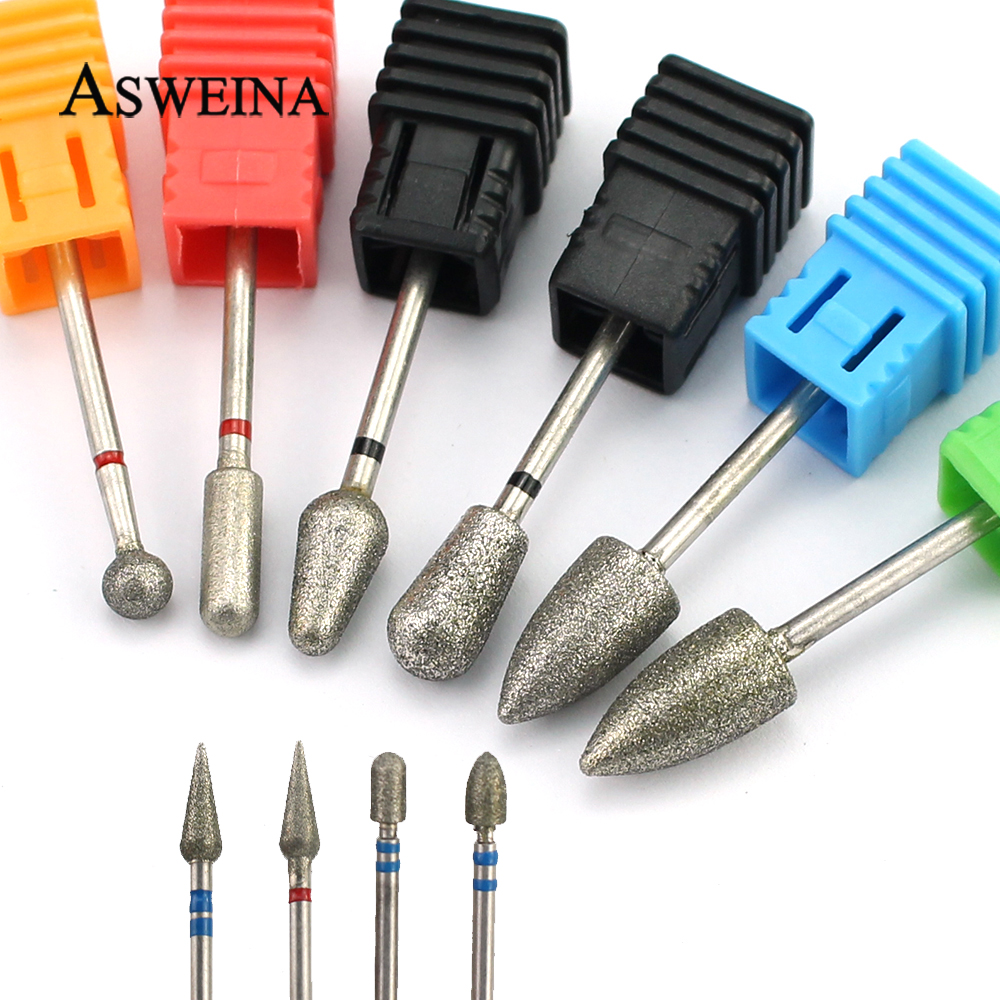 1pcs Diamond Nail Drill Bit Electric Manicure Files Rotary Milling Cutter Pedicure Machine Accessories Cuticle Clean Tools